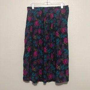 Koret Navy Floral Plus Size Maxi Skirt